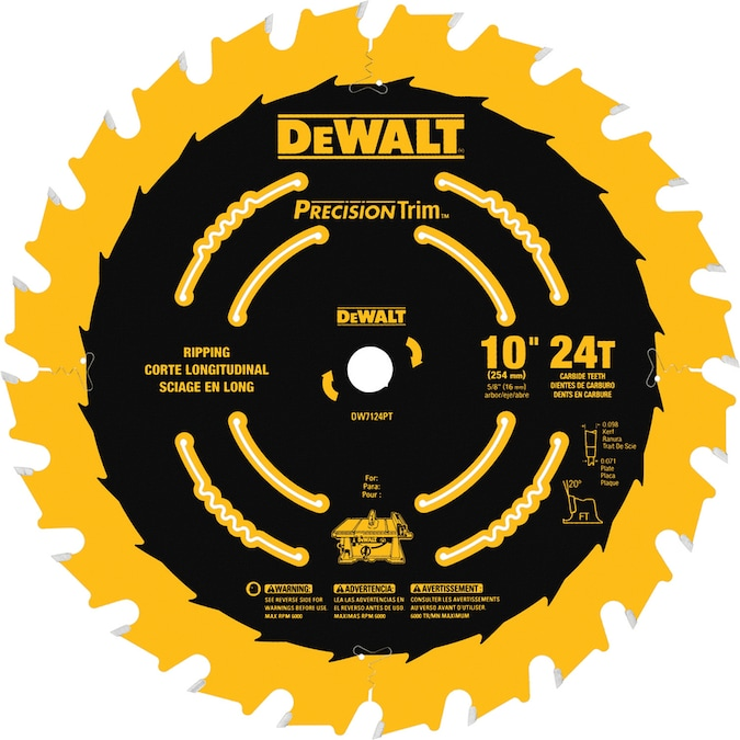 24 Tooth Carbide Miter Table Saw Blade