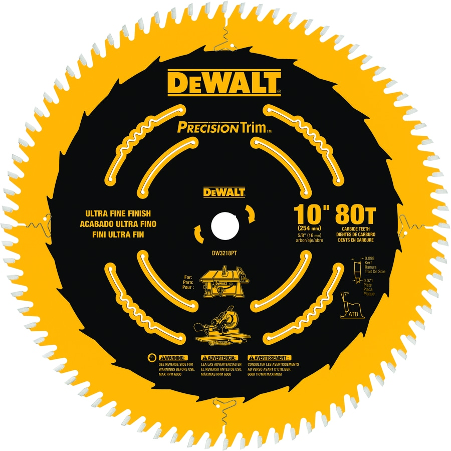 Shop circular saw blades at lowes dewalt precision trim 80 tooth carbide circular saw blade greentooth Choice Image