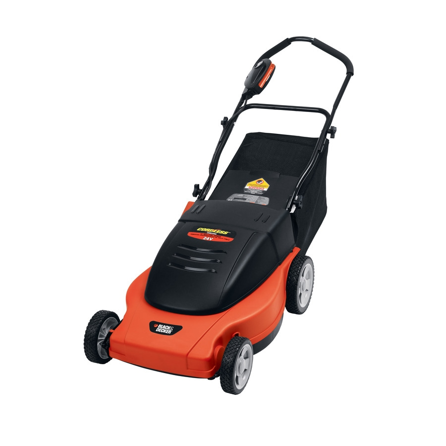 "Black & Decker 19"" Cut Cordless Electric Push Mower"