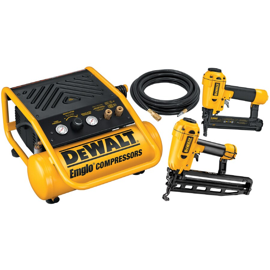 Shop DEWALT Finish Nailer/Brad Nailer/Compressor Combo Kit at Lowes.com