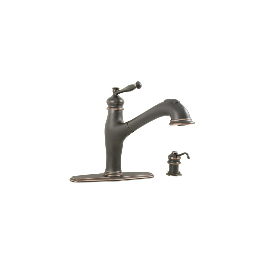 Aquasource Kitchen Faucet: AquaSource Oil-Rubbed Bronze 1-handle Pull-out Deck Mount