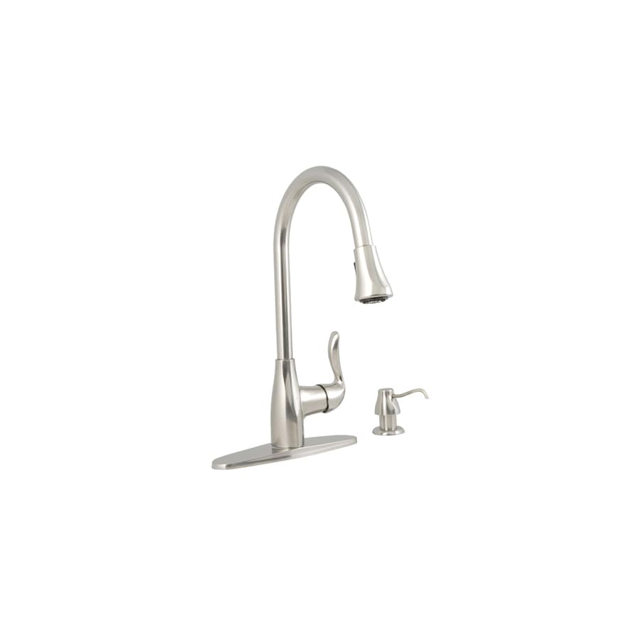 Aquasource Kitchen Faucet: AquaSource Stainless Steel 1-handle Pull-down Deck Mount