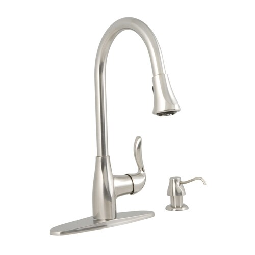 Aquasource Stainless Steel 1 Handle Pull Down Deck Mount