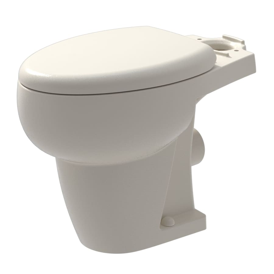 Shop bathroom anywhere standard height bisque 12 in rough in elongated toilet bowl at for Thetford bathroom anywhere reviews