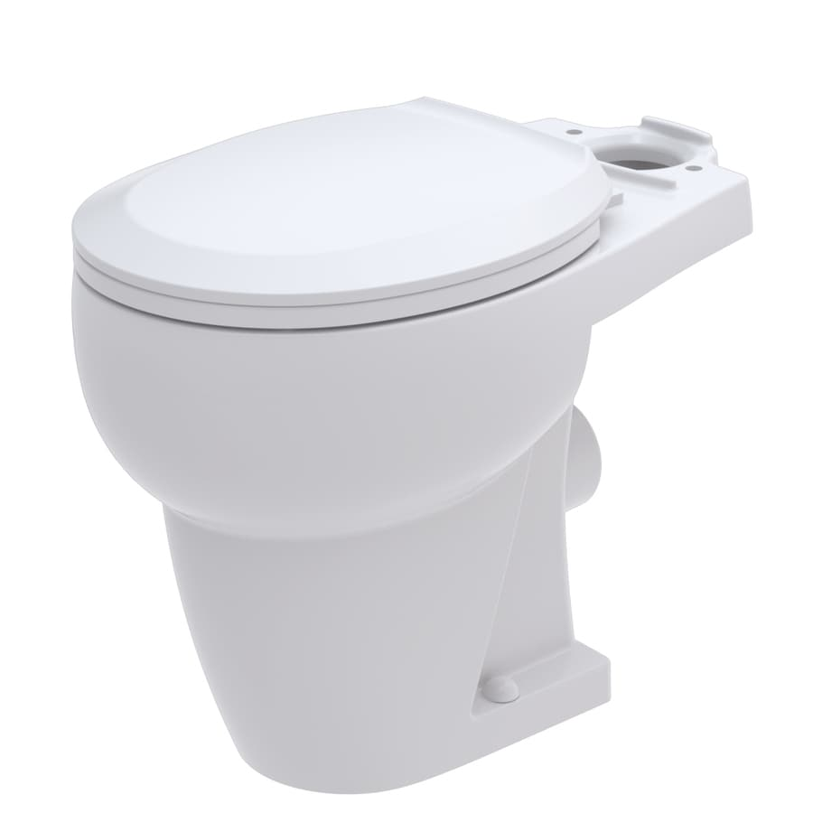 Shop bathroom anywhere standard height white 12 in rough in round toilet bowl at for Thetford bathroom anywhere reviews