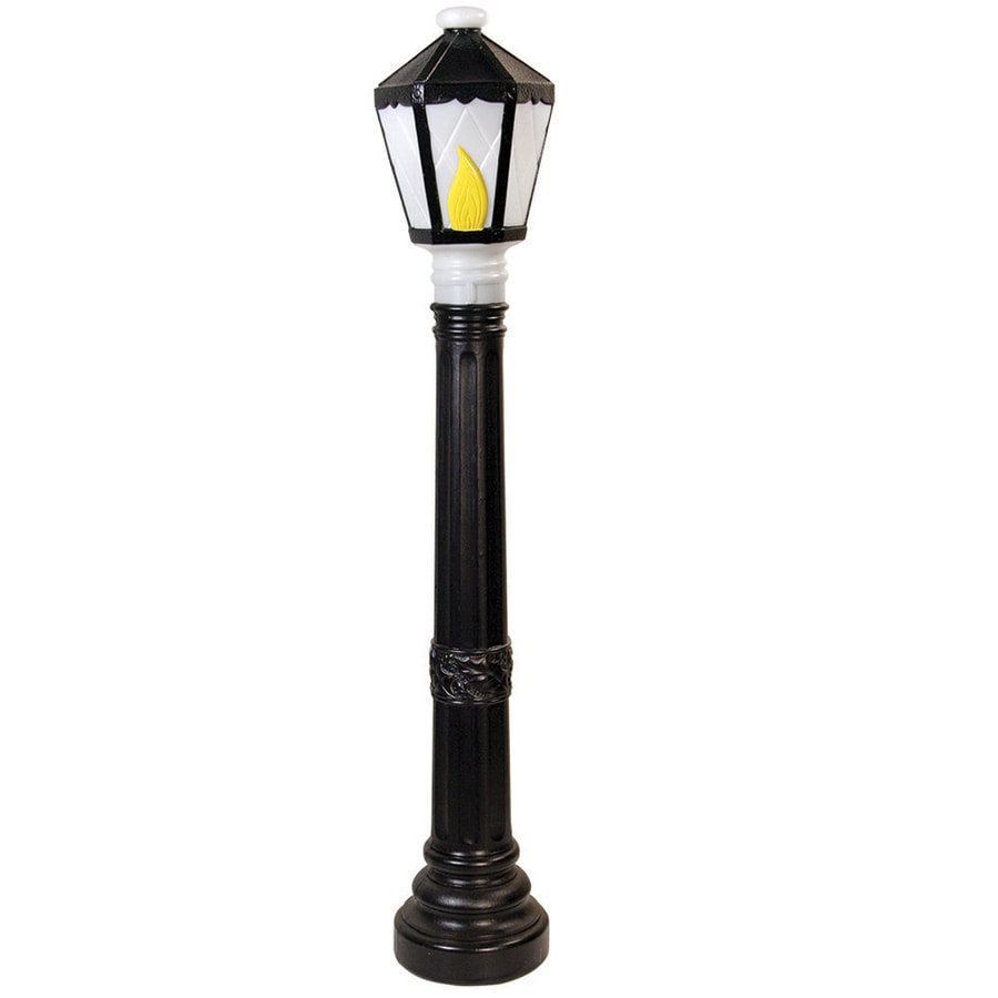 Holiday Time Pre-Lit Lamp Post Sculpture with Constant Clear White Incandescent Lights