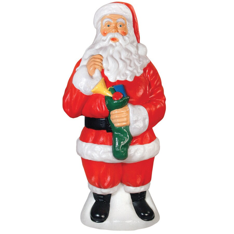 Holiday Time Pre-Lit Santa Sculpture with Constant White Incandescent Lights