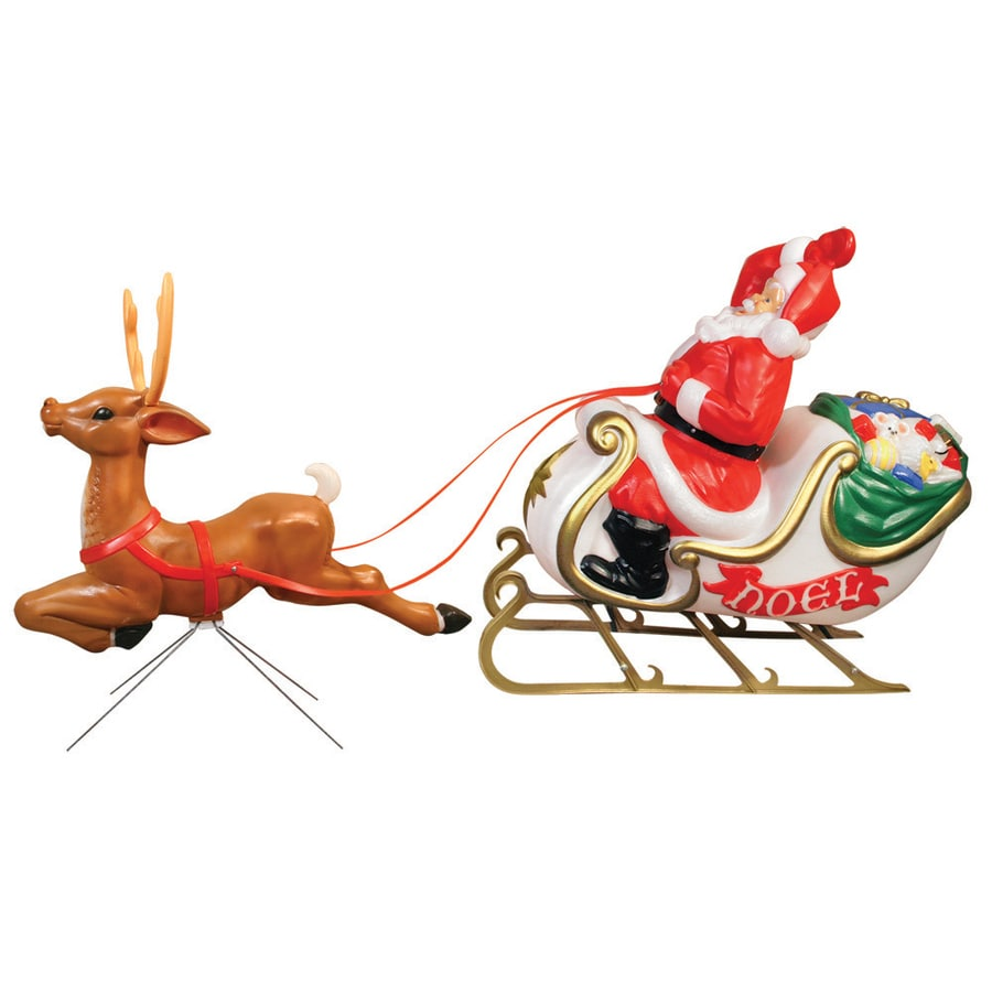 Shop Holiday Time Pre Lit Santa Sculpture With Constant