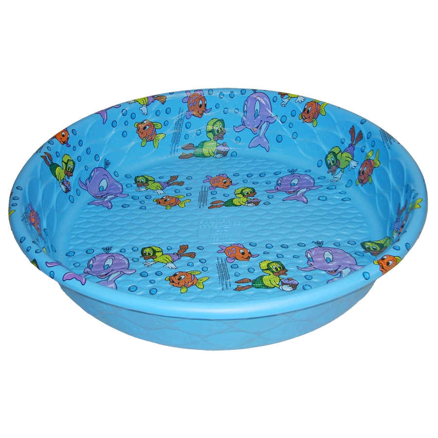 Shop summer escapes poly pool 59 in l x 59 in w laminated for Plastik pool rund