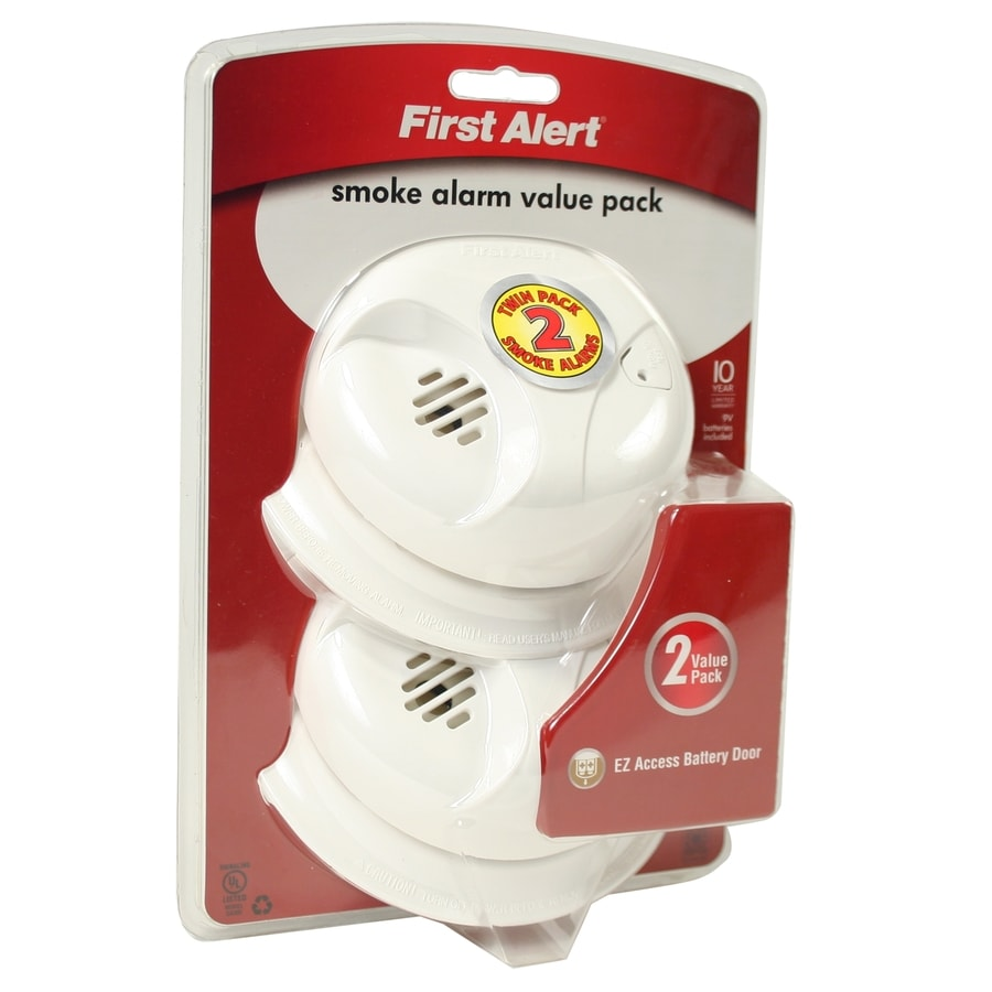 First Alert 2-Pack Battery-Powered 9-Volt Smoke Detectors