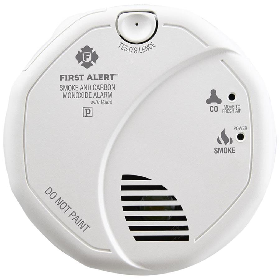 first alert ac hardwired combination smoke and carbon monoxide detector with sensor and battery back - First Alert Smoke Alarm