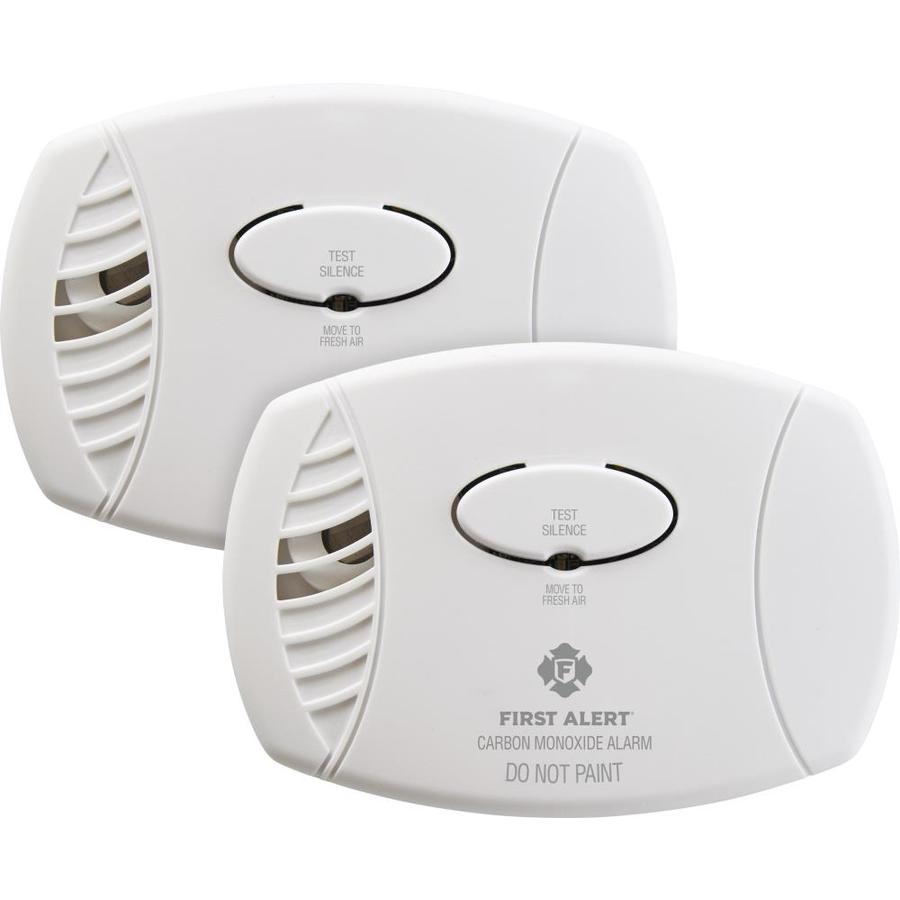 First Alert 2-Pack Battery-Operated Carbon Monoxide Detectors