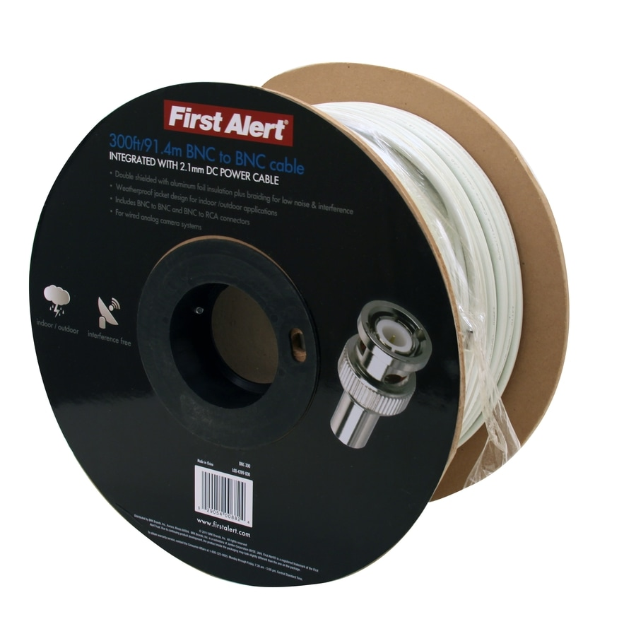 First Alert 300-ft 10-2 Solid Shielded White Security Cable