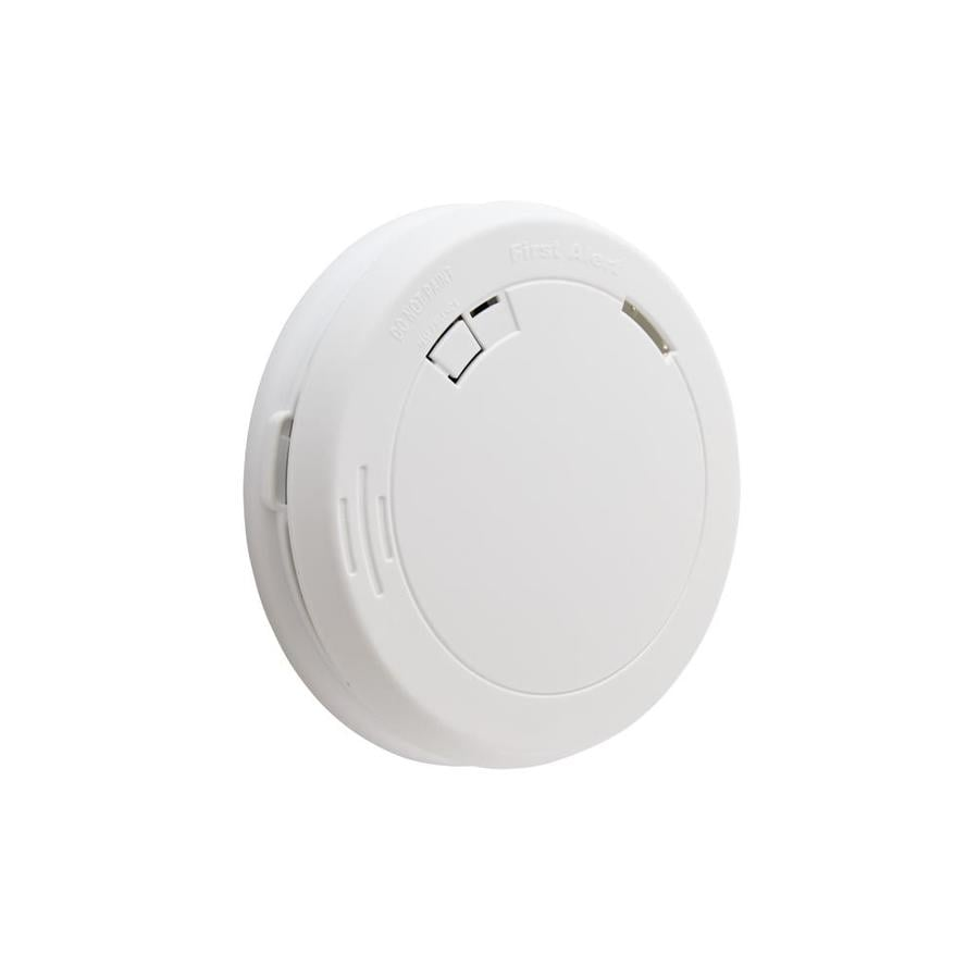 shop smoke detectors at lowes com first alert battery powered 3 volt photoelectric smoke detector
