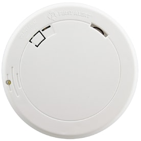 First Alert 10-Year Battery-Powered Photoelectric Smoke Alarm with Escape Light