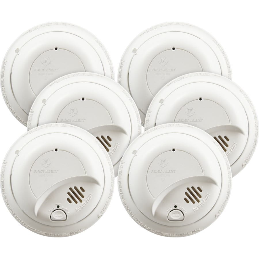 First Alert 6 Pack Ac Hardwired 120 Volt Smoke Detector At Alarm Circuit