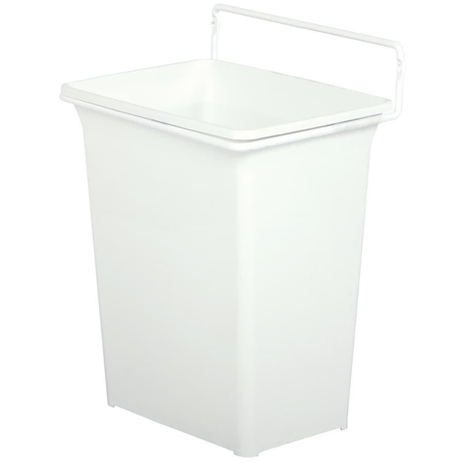 Knape & Vogt 2.25-Gallon White Plastic Trash Can