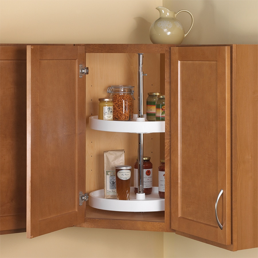 Knape & Vogt 2-Tier Plastic Full Circle Cabinet Lazy Susan