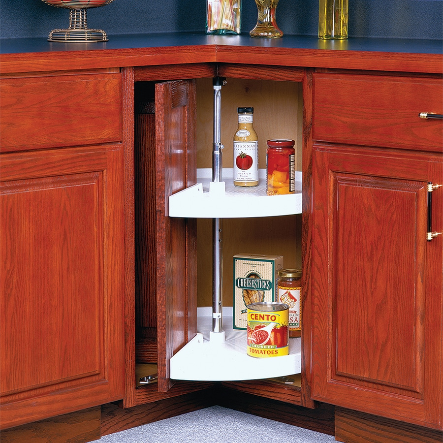 kitchen cabinet lazy susan shop knape amp vogt 2 tier plastic pie cut cabinet lazy 19068