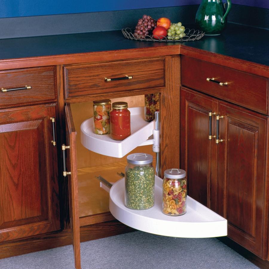 Knape & Vogt 2-Tier Plastic Half Moon Cabinet Lazy Susan