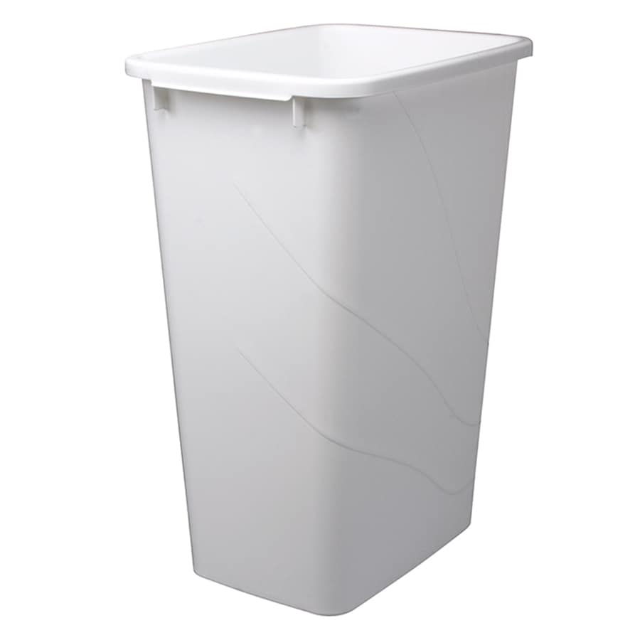 Knape & Vogt 12.5-Gallon White Plastic Trash Can