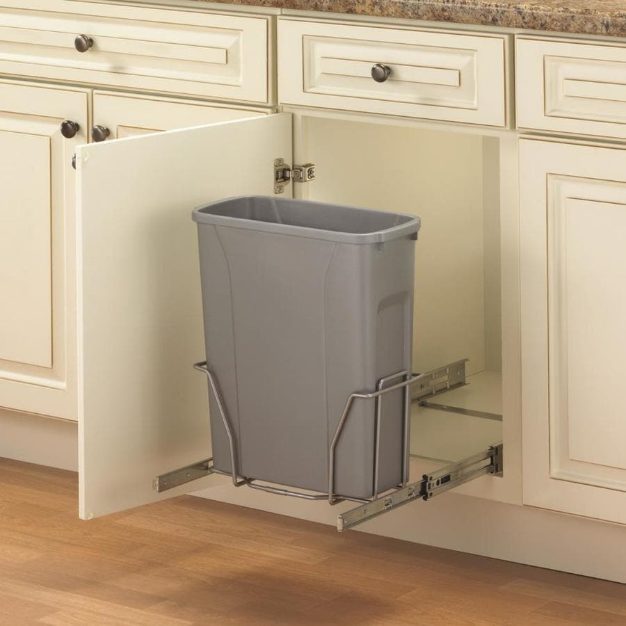Shop knape vogt 20 quart plastic pull out trash can at for Armoire de cuisine rona