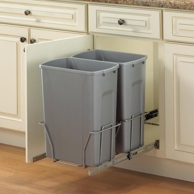 35-Quart Plastic Pull Out Trash Can