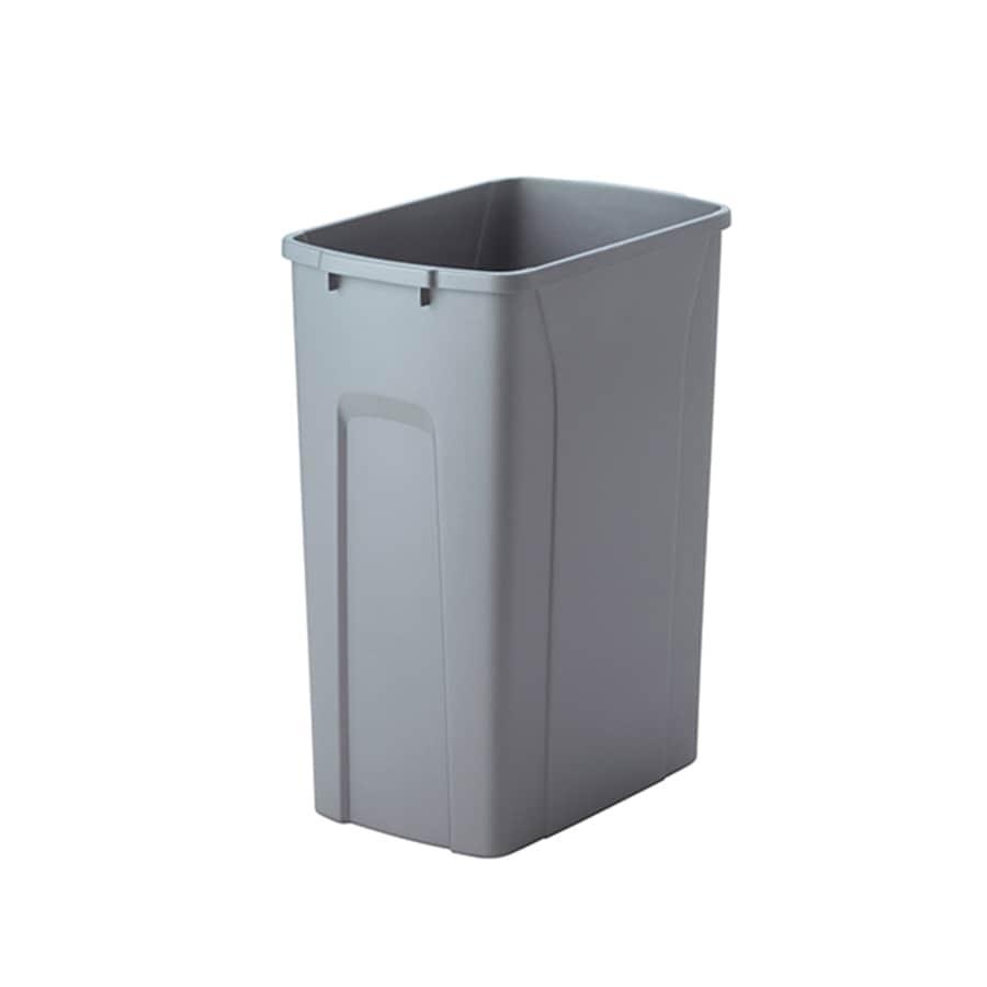 Knape & Vogt 8.75-Gallon Platinum Plastic Trash Can