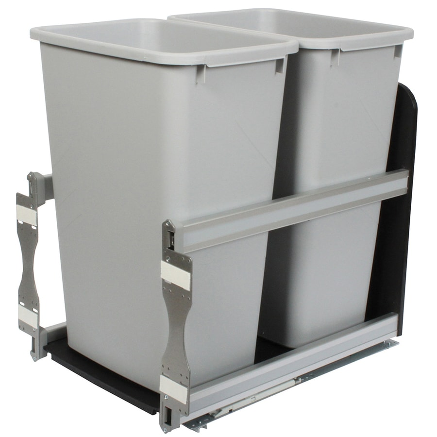Knape Vogt 50 Quart Plastic Pull Out Trash Can In The Pull Out Trash Cans Department At Lowes Com