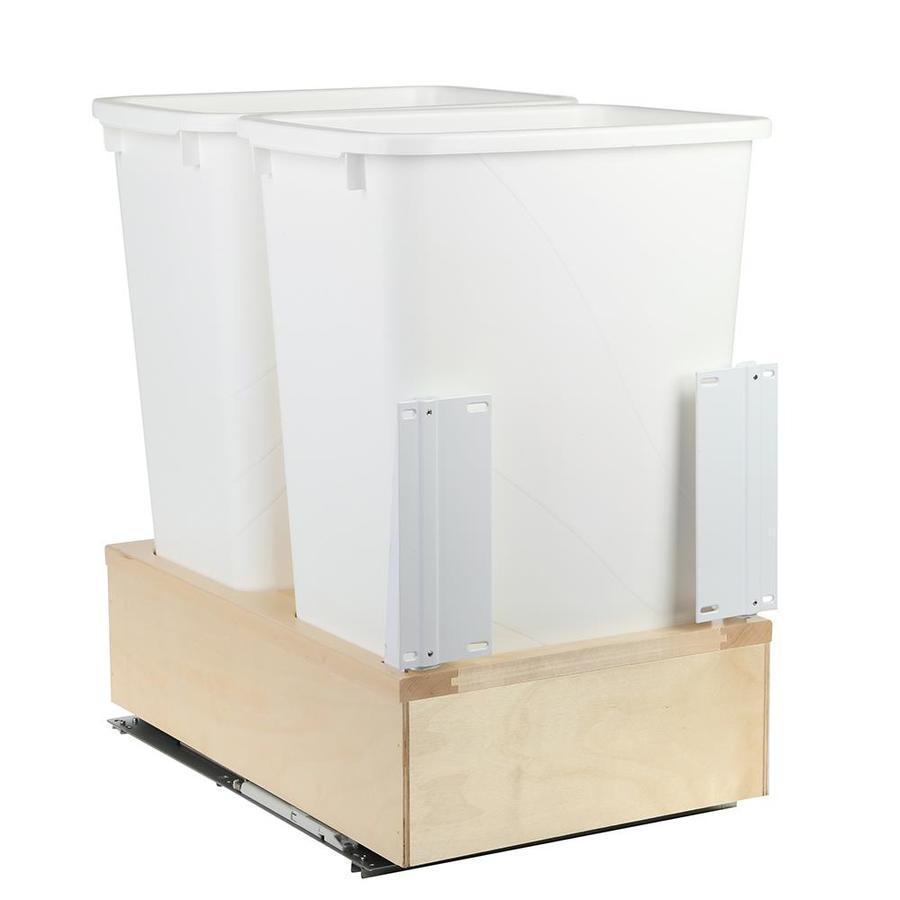 Knape & Vogt 50-Quart Plastic Pull Out Trash Can