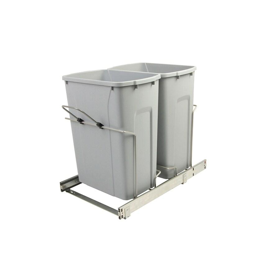 Knape & Vogt 35-Quart Plastic Pull Out Trash Can