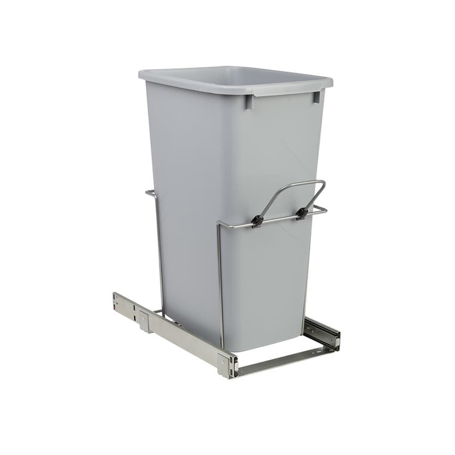 Knape & Vogt 50-Quart Plastic Pull Out Trash Can