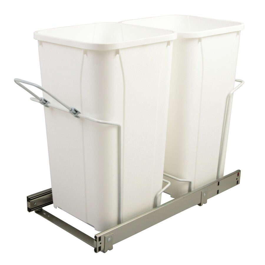 Knape & Vogt 27-Quart Plastic Pull Out Trash Can