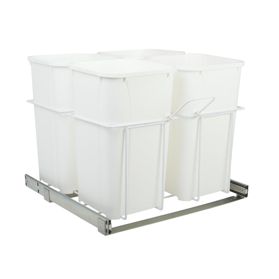 Knape & Vogt 27-Quart Plastic Pull Out Trash Can