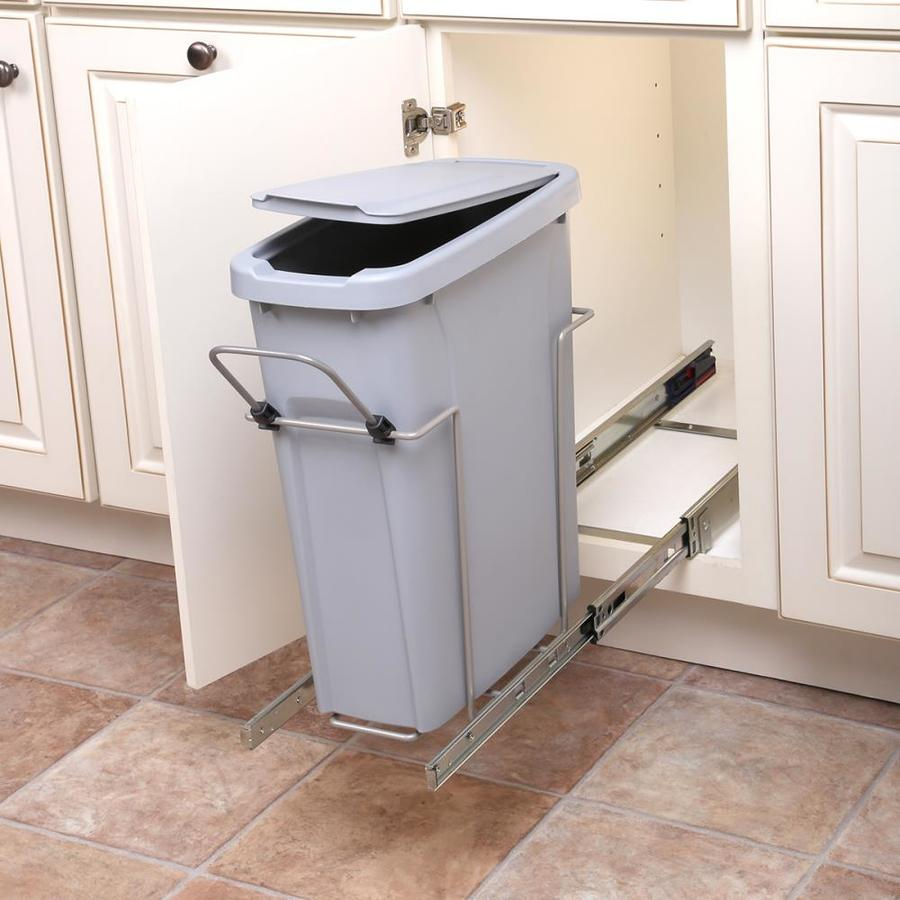 Shop Knape Vogt 20 Quart Plastic Pull Out Trash Can At