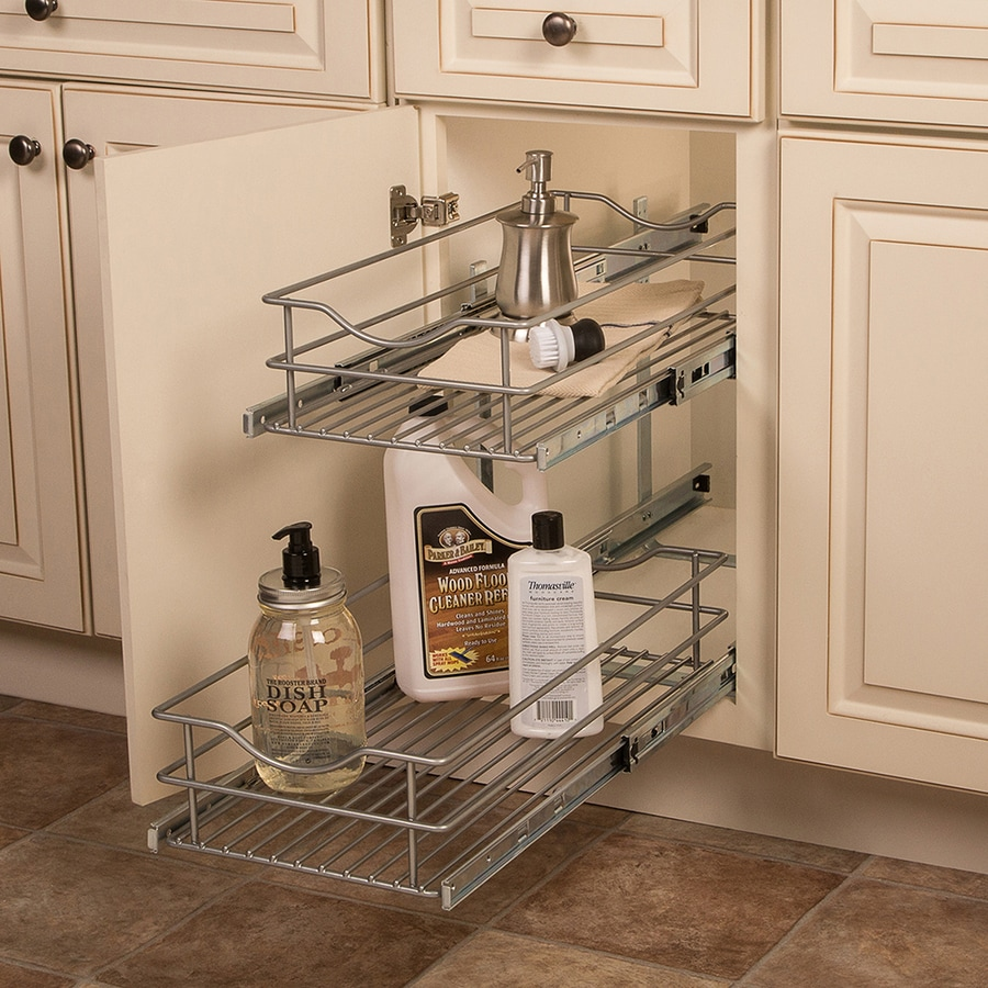 Pull Out Sliding Metal Kitchen Pot Cabinet Storage: Shop Knape & Vogt 11.56-in W X 19.25-in 2-Tier Pull Out