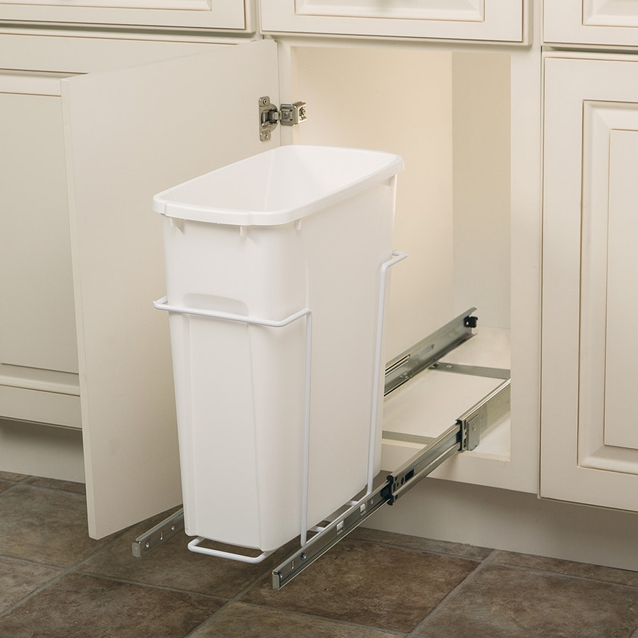 Knape & Vogt 20-Quart Plastic Pull Out Trash Can
