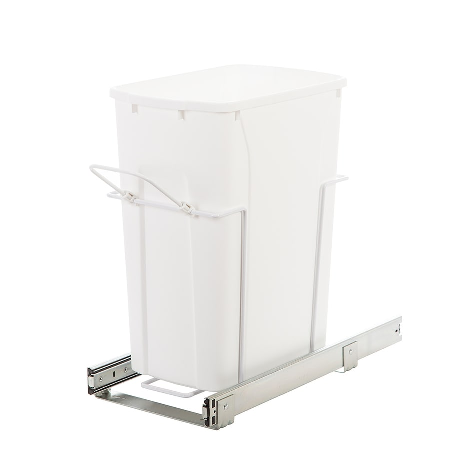 Knape & Vogt 35-Quart Plastic Pull Out Trash Can