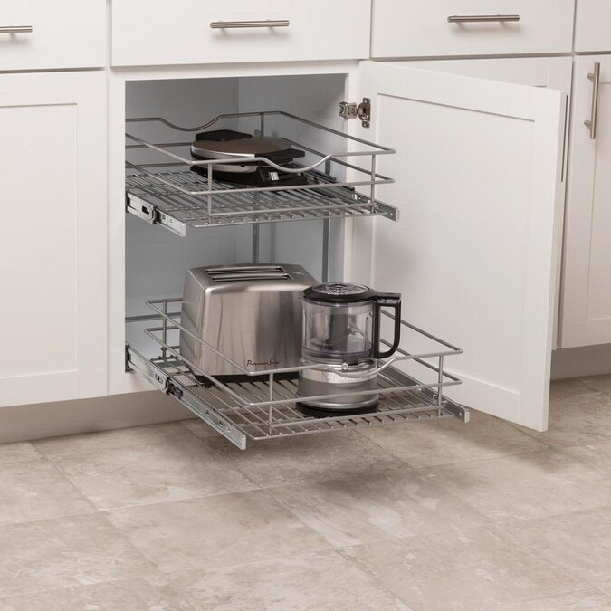 Simply Put 17.5-in W x 14.6875-in H 2-Tier Pull Out Metal ...