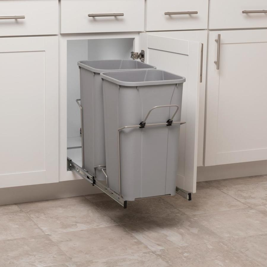 Simply Put 27 Quart Plastic Pull Out Trash Can At Lowes Com