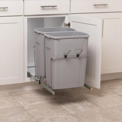 simply put 35-quart plastic pull out trash can at lowes