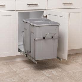 Merveilleux Simply Put 35 Quart Plastic Pull Out Trash Can