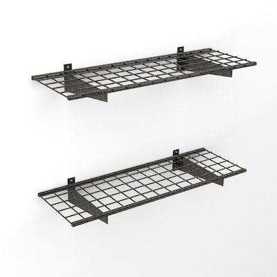 Garage Storage System >> Hyloft 45 In W X H Black Steel Garage Storage System