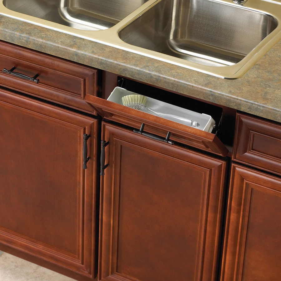 Knape & Vogt 11-in W x 3-in H Plastic 1-Tier Pull Down Cabinet Tip-out Tray