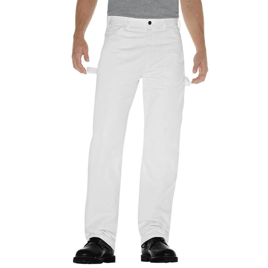 Dickies Men's 34X30 Painters White Canvas Work Pants