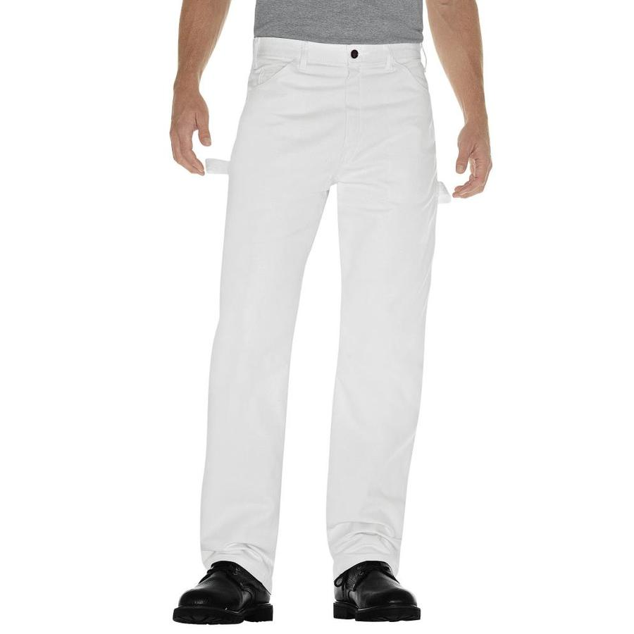 Dickies Men's 38x32 Painters White Canvas Work Pants