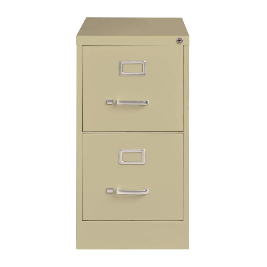 Hirsh Hirsh Industries 22-in Deep Vertical Files Putty 2-Drawer File Cabinet  sc 1 st  Loweu0027s & Shop Hirsh Hirsh Industries 22-in Deep Vertical Files Putty 2-Drawer ...