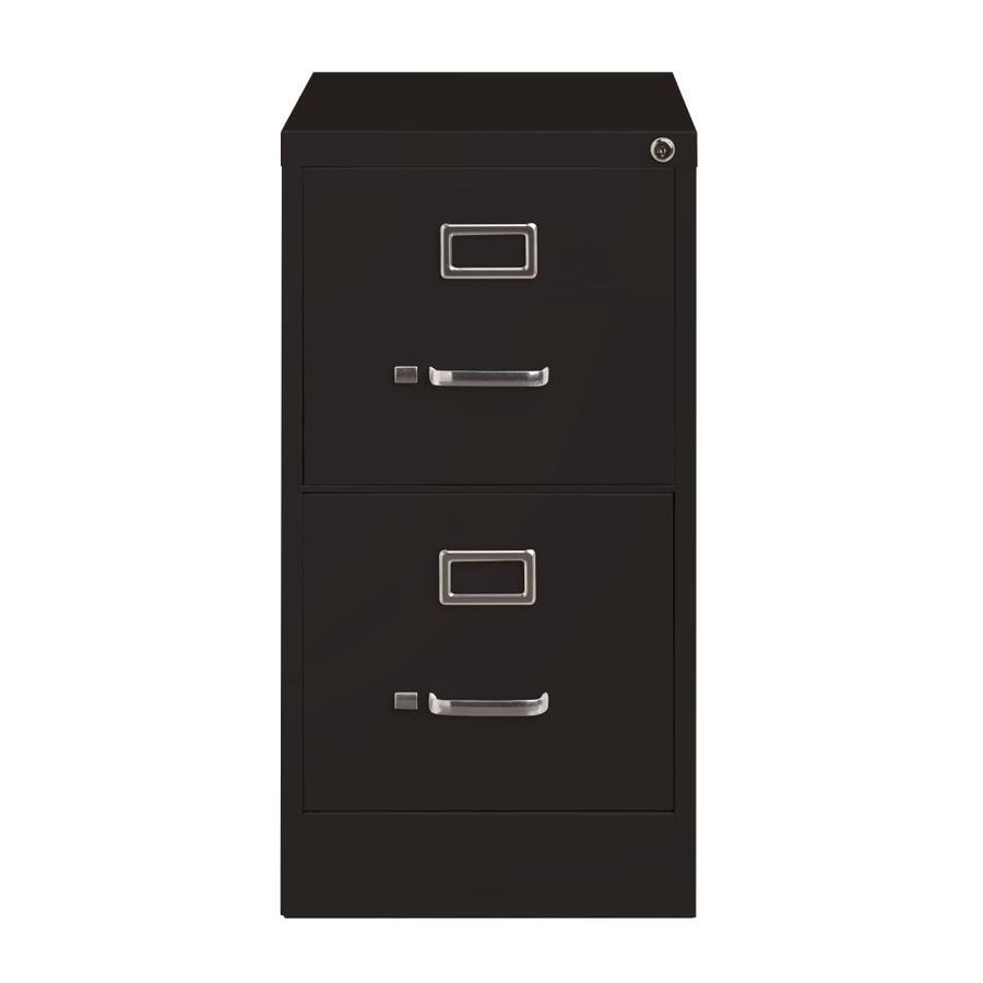 Hirsh 22 In Deep Vertical Files Black 2 Drawer File Cabinet