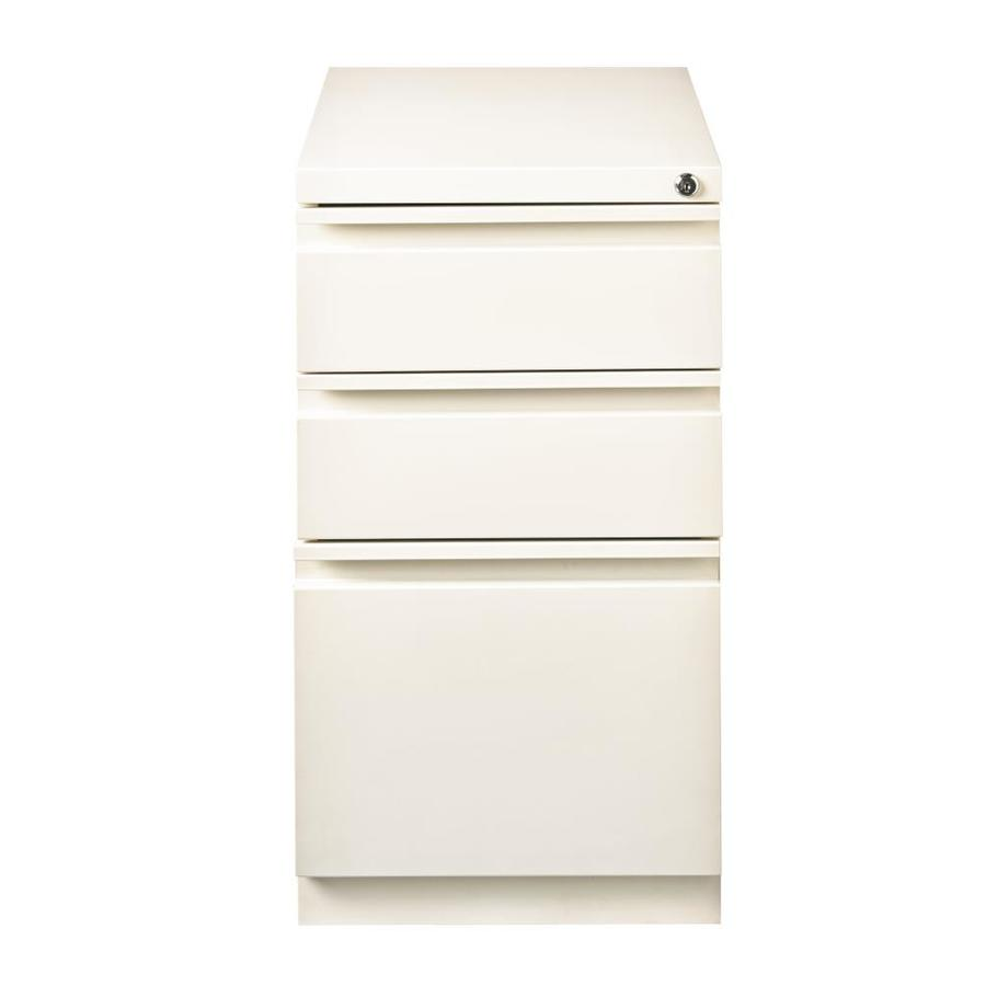 Hirsh Hirsh HL10000 Series Pedestal Files White 3 Drawer File Cabinet