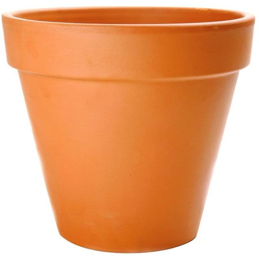 9.84-in x 9.06-in Terra Cotta Clay Rustic Planter